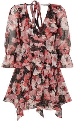 MISA Los Angeles Rosalinda Floral Ruffle Dress