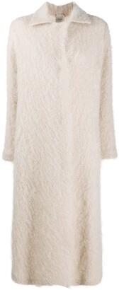 Alysi Long Mohair Coat