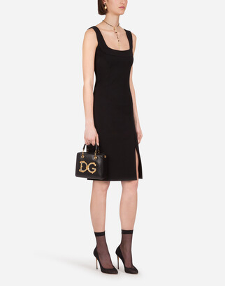 Dolce & Gabbana Sleeveless Jersey Calf-Length Dress