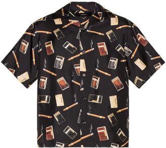 Amiri Dupont Falling Print Short Sleeves Shirt in Black | FWRD