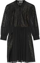 Rebecca Minkoff Rock lace-paneled crepe dress