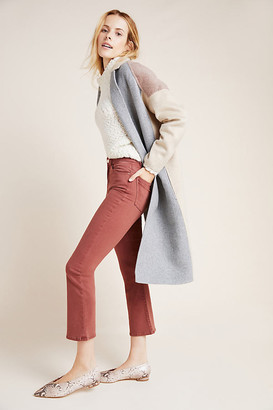 Marianna DL1961 x Hewitt Bridget High-Rise Kick Flare Cropped Jeans By DL1961 in Brown Size 20W