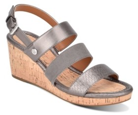 Bandolino Talene 3 Strap Wedge Heel Sandal Women's Shoes