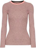 Apiece Apart De Colores Mélange Ribbed-knit Cotton Sweater - Pink