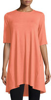 Eileen Fisher Round-Neck High-Low Tunic