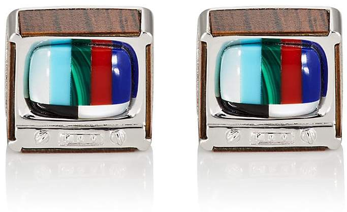 Jan Leslie Men's Retro TV Cufflinks