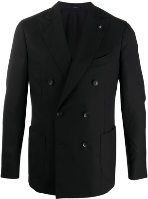Lardini Double Breasted Buttoned Jacket