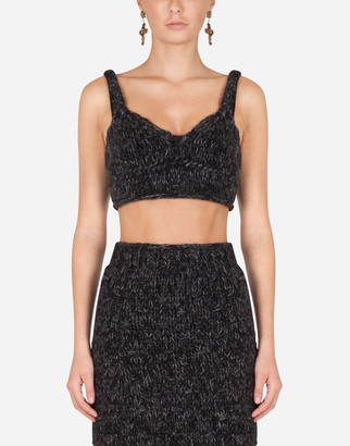 Dolce & Gabbana Knit Top With Sweetheart Neckline