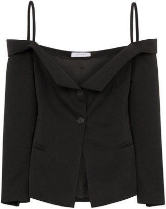 Delada Off-The-Shoulder Blazer Top