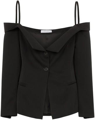 Delada Off-The-Shoulder Blazer Top