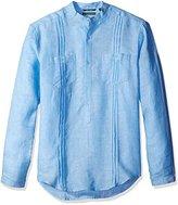Cubavera Men's Long Sleeve 2 Pocket Popover