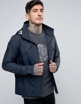 Pretty Green Carlton Hooded Jacket Lightweight in Navy