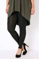Yours Clothing Black Space Dye Stretch Leggings