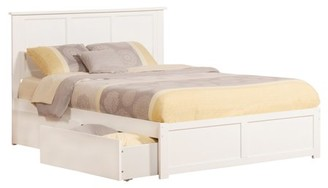 Dreambone Madison Platform Bed with Flat Panel Foot Board and 2 Urban Bed Drawers in Multiple Colors and Sizes