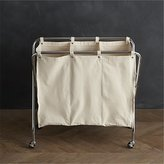 Crate & Barrel Three-Section Canvas Sorter