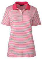 Classic Women's Tall Pima Polo Shirt-Light Coral Textured Tile