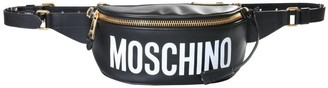 Moschino Logo Print Zipped Belt Bag