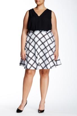 Amanda & Chelsea Bias Print Skirt (Plus Size)