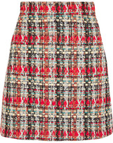 Gucci Checked Tweed Mini Skirt - Red