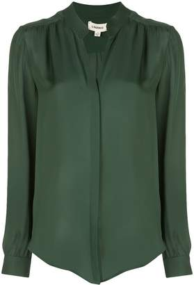 L'Agence concealed front blouse