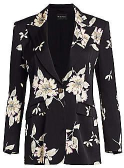 Etro Women's Plumeria Floral & Stripe Jacket