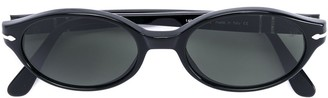 Persol Pre Owned slim oval framed sunglasses