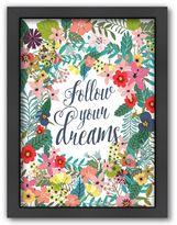 Americanflat ''Follow Your Dreams'' Framed Wall Art