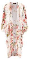 eskandar Floral Silk Cocoon Jacket