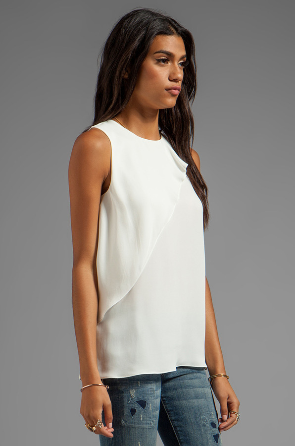 Theory Charelle Silk Top