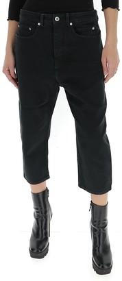 Rick Owens High-Waist Cropped Jeans