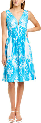Oscar de la Renta Printed A-Line Dress