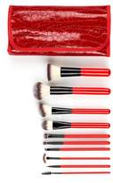 Crown Brush Red 10-Piece Designer Case Deluxe Syntho Set