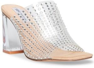 Steve Madden Women's Nicely Vinyl Rhinestone Dress Sandals