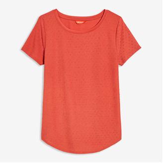 Joe Fresh Women's Dot Tee, Dark Orange (Size XS)