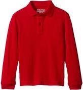 Nautica Long Sleeve Pique Polo Boy's Long Sleeve Pullover