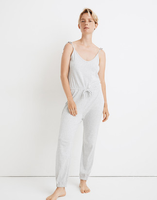 Madewell Knit Pointelle Tie-Strap Pajama Jumpsuit