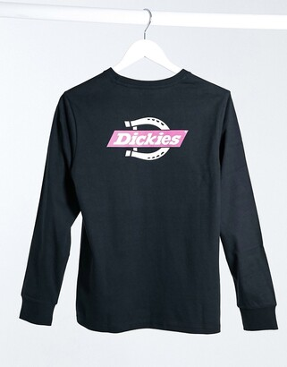 Dickies Ruston back print long sleeve t-shirt in black