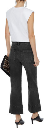 Current/Elliott The Cropped Camp Faded Mid-rise Straight-leg Jeans
