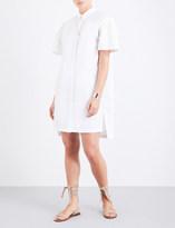 Prism Leo Daisy Damask cotton-poplin shirt dress