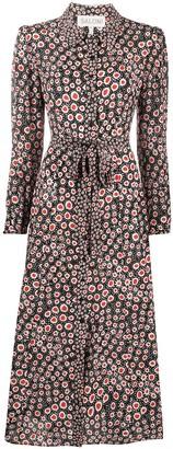 Saloni Vanessa polka-dot shirt dress