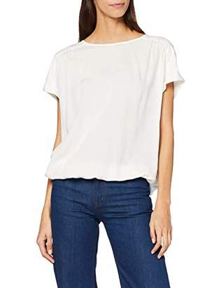 Tom Tailor Women's Easy Feminine Blouse Blouse, White (Whisper 8210)