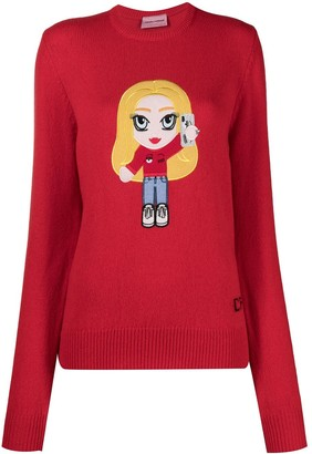 Chiara Ferragni Chiara-patch wool-blend jumper