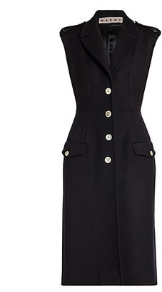 Marni Brushed Wool Sleeveless Gilet Dress