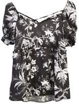 McQ Floral Printed Satin Blouse