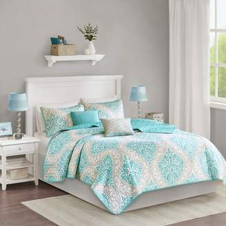 Nobrand No Brand Chelsea Damask Quilted Coverlet Set