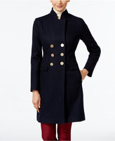 T Tahari Double-Breasted Walker Coat