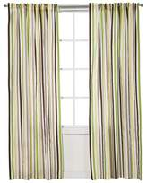 Bacati Curtain Panel - Green/Yellow Chocolate Stripes