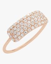 Sophie Ratner Diamond Studded Tag Ring