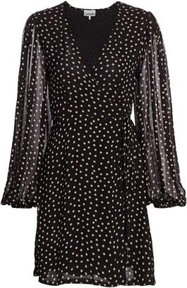 Ganni Dotted Georgette Dress