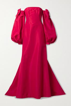 Carolina Herrera Convertible Strapless Silk-faille Gown - Red